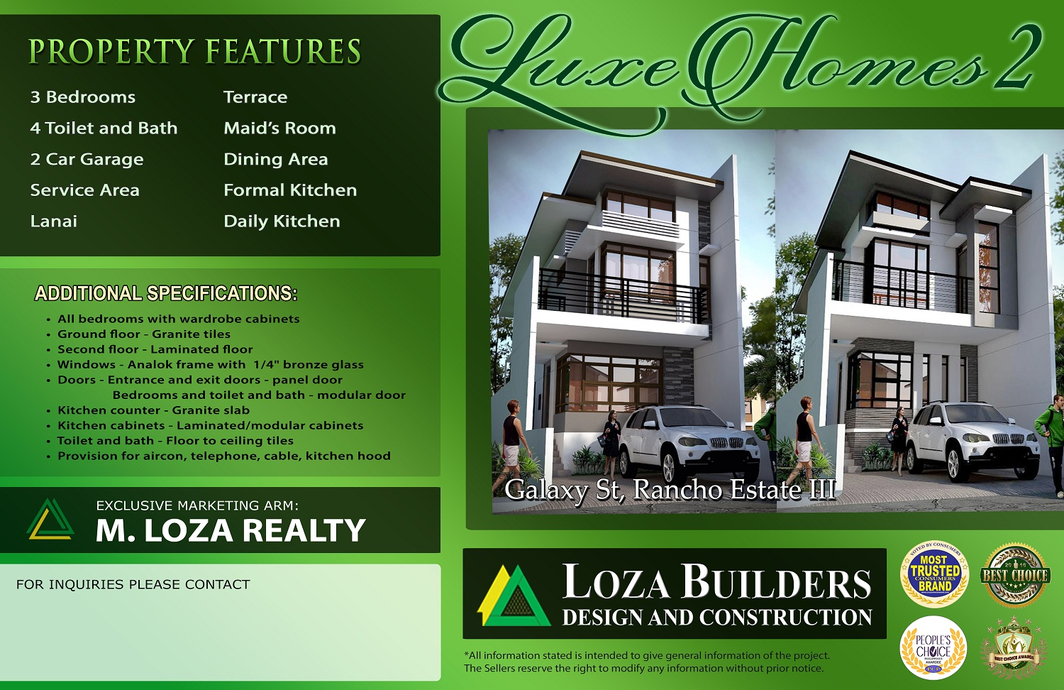 Luxe Homes 2 – Rancho Estate III, Marikina City | LOZA Builders ...